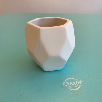 Faceted planter for succulents paint at home ceramics kit from Create Art Studio