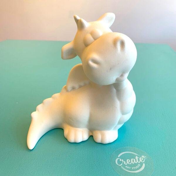 Create Art Studio Ceramic Painting at home Friendly Dragon bisque
