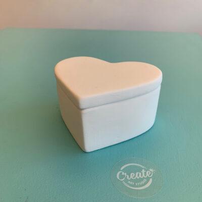 Ceramic heart box paint at home kit from Create Art Studio