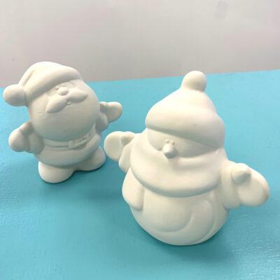 Create Art Studio Ceramics Painting kit to go paint pottery at home Snowman Snowperson art kit