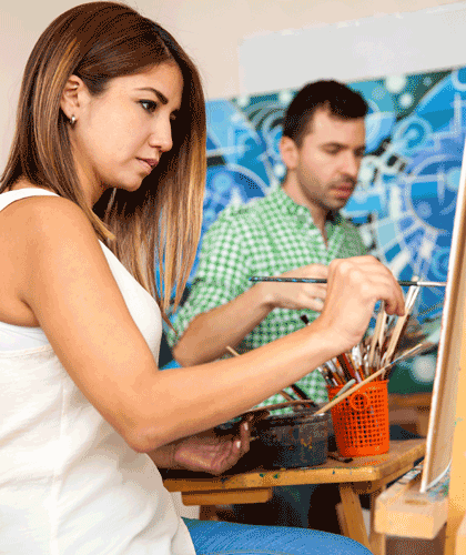 Create Art Studio Home page learning is easy