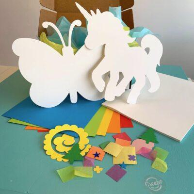 Create Art Studio Paper Craft Art Kit for Kids