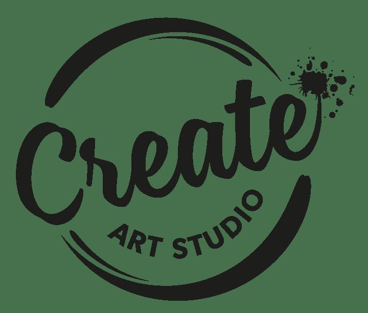 Create Art Studio Logo Black