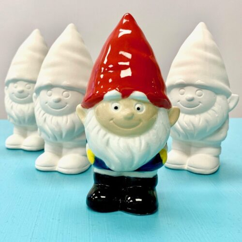 Ceramic Studio pottery gnomes for painting drop in Create Art Studio