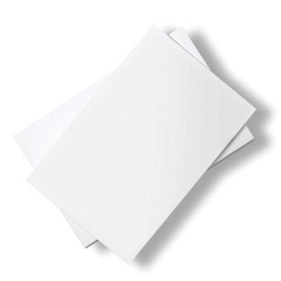 Stacks of white paper