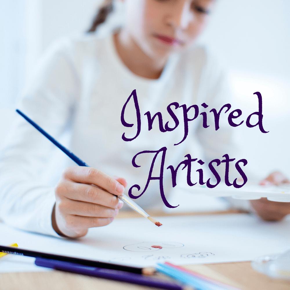 Inspired Artists mixed media art class for older kids pre-portfolio development art class at Create Art Studio
