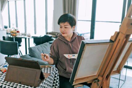 Create Art Studio online painting classes Toronto's best art school