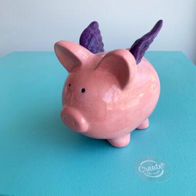 Create Art Studio ceramics painting piggy bank