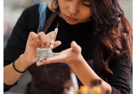 Create Art Studio Adult pottery studio sculpture