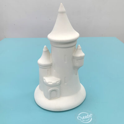 Create Art Studio Ceramics Painting Castle Money Bank DIY Art Kit Front
