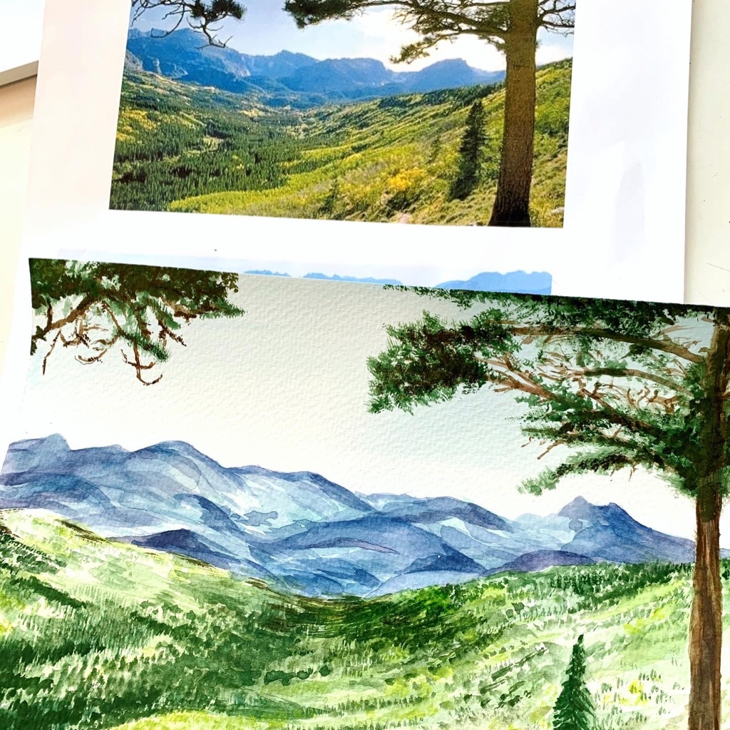 Create Art Studio Team Building Event Watercolour Painting for groups