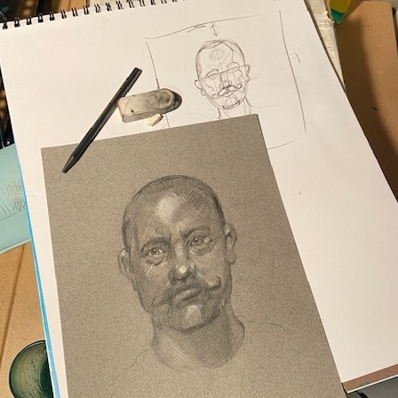 Create Art Studio Portrait drawing online art class Canada improve your drawing skills of human faces
