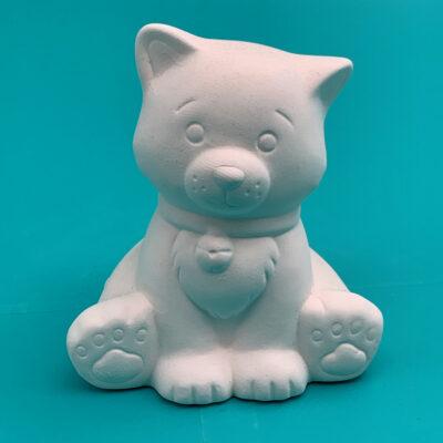 Create Art Studio Pottery Painting Ceramics kits to go Little Kitty Cat Ceramic Sculpture