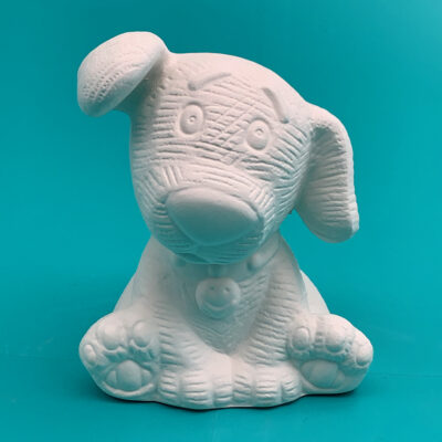 Create Art Studio Ceramics Painting kit to go Paint Pottery at home little dog sculpture