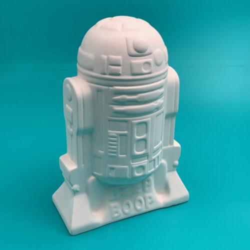 Star Wars R2-D2 money bank ceramics kit paint at home with Create Art Studio