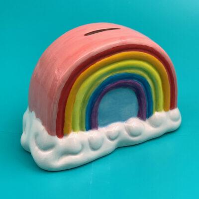 Create Art Studio colourful rainbow money bank ceramic DIY pottery painting kit